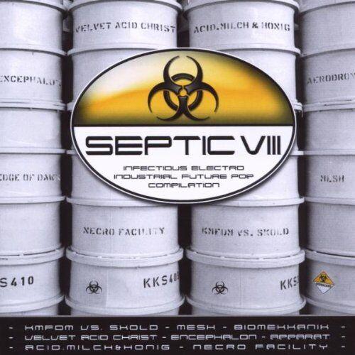 SEPTIC 8 VIII CD 2009 KMFDM Velvet Acid Christ MESH