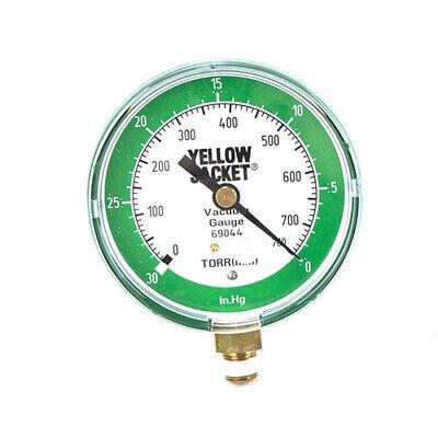 Yellow Jacket 69044 3 18 Vacuum Gauge 0-30 Inhg760-0 Torr Mm