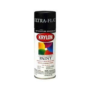 krylon 1602 ultra flat black spray paint 12oz ebay. Black Bedroom Furniture Sets. Home Design Ideas