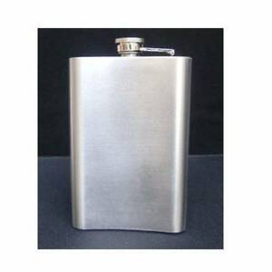 9 oz Stainless Steel Solid Silver Hip Flask Bottle NEW Paskeville Copper Coast Preview