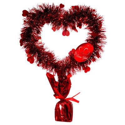 Heart Shaped Wreath Stand Balloon Weight Holder Valentine Table (Heart Balloon Weight)