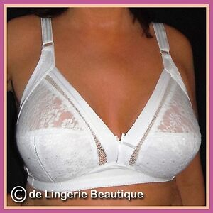 WHITE-Non-Wired-Non-padded-Lace-Support-Bra-Size-36-46-B-C-D-DD-E