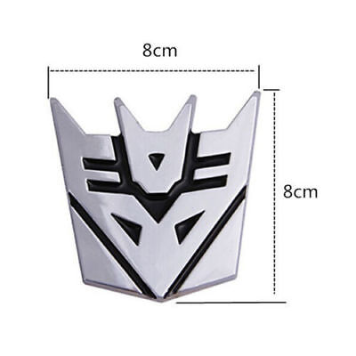 """Ford C-Vic 2008-2012 3PC Kit  Transformers /""""Decepticon/"""" Overlay Emblem Decal"""
