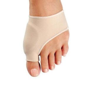 Pair Footful Fabric Gel Toe Bunion Pad Protector Sleeves Hallux Valgus Corrector