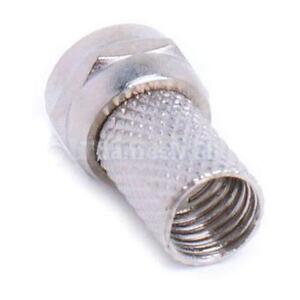 10pcs-Screw-On-F-Connector-Plug-for-RG6-RG6-U-Coaxial-Cable-Easy-to-install