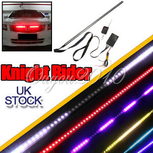 7 Color 48 LED RGB 56cm Car Knight Rider Flash Strobe Strip Light Waterproof Kit