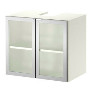 Ikea LILLANGEN Sink Base Cabinet with 2 Doors - White, Aluminum