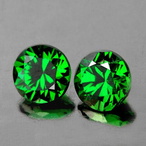 Superb Green Natural Tsavorite Garnet 5.5mm Pair Loose Gemstone