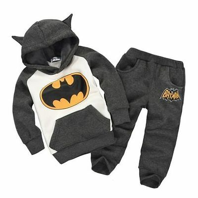 Boys Batman Set Kids Hoodie And Trousers Clothing Suit With Bat - Batman Hoodie With Ears