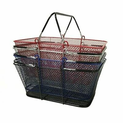 Perforated Metal Shopping Basket - Silver