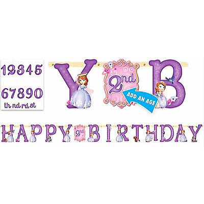 Sofia The First Birthday Decorations (SOFIA THE FIRST JUMBO LETTER BANNER KIT ~ Birthday Party Supplies)