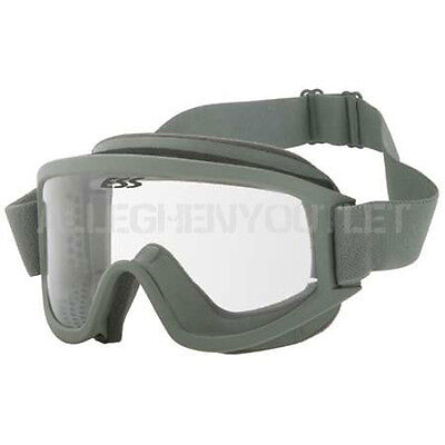 OAKLEY ESS Land Ops Green Frame / Clear Lens Ski Snow Board Winter Goggles VGC