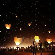 Heart Shaped Sky Lanterns