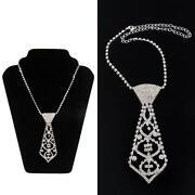 Rhinestone Tie Necklace