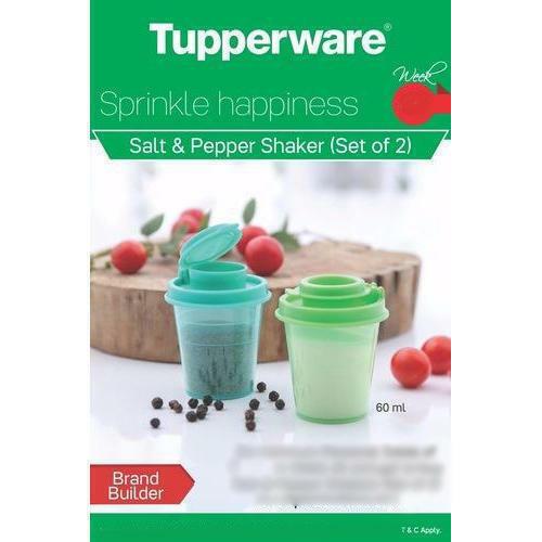 Tupperware Plastic Midget Salt & Pepper Shakers 60 ML each- Set of 2 piece