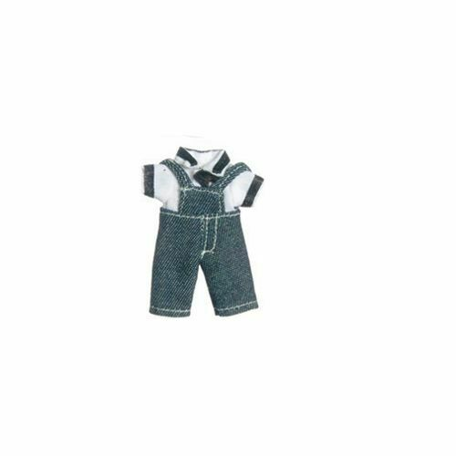 Dollhouse Wearable Boys Denim Overall Shorts and Shirt for M