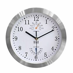 Modern Silent Wall Clock Non ticking 10 inch Excellent Accurate Sweep White