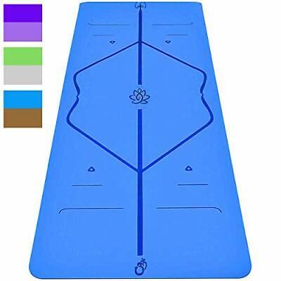 Sosila Yogamatte, Gymnastikmatte, 6mm TPE ECO Matte, rutschfest, (Blau-Braun)