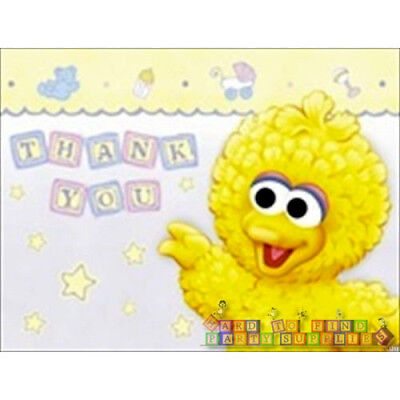 Thank You Note For Baby Shower (SESAME STREET B is for Beginnings THANK YOU NOTES (8) ~ Baby Shower Party)