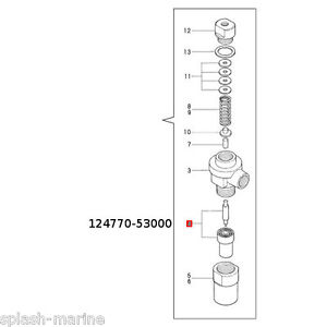 Original-Yanmar-Marino-3gmf-Gasolina-INYECTOR-Boquilla-Kit-124770-53001