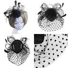 Veil Feather Black Fascinators & Headpieces for Women