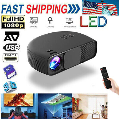 3200 Lumens 1080P 3D LED Smart Projector Multimedia Home Theater HDMI USB VGA AV