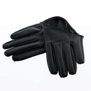 Fashion Sex and The City PU Leather Women Five Finger Half-Palm Gloves HG096