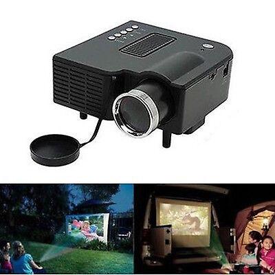 Mini Portable Home Theater Cinema Proyector Projector VGA USB SD AV HDMI 1080P T