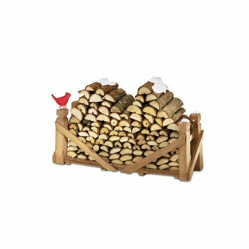 Department 56 Accessories for Village Collections Natural Wood Log Pile