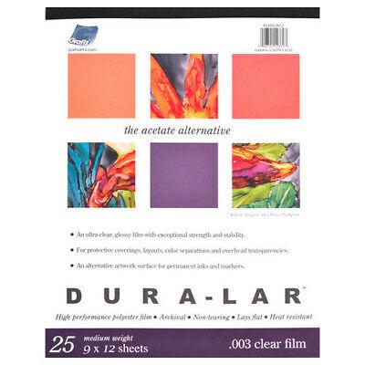 GRAFIX P05DC0912 CLEAR DURA LAR .005 9X12 25 SHEET -