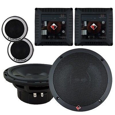 """NEW Rockford T1650-S 6-1/2"""" Power Series Car Audio 2-Way Component Speakers"""