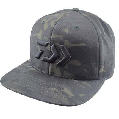 Daiwa D-Vec Camo Green Flatbill Cap Snap Dark Green Camouflage Bass Fishing  Hat 36074f1bbce8