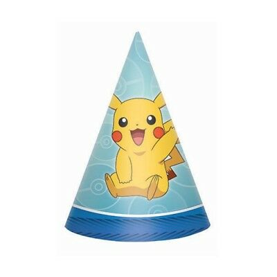 POKEMON Sun and Moon CONE HATS (8) ~ Birthday Party Supplies Favors Video Games (Pokemon Party Games)