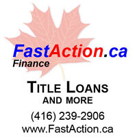 Borrow using the equity in your paid off 2007 or newer vehicle.