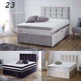 🔥💗🔥FLASH DEALS❤UPTO 70% OFF🔥🔥BRAND New Double/King Crush Velvet Divan Bed + Deep Quilt Mattress