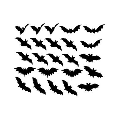 24 Bat Sticker for Decal Home Decor Wall Window Car Room Envelope party Cup - Wall Decorations For Parties