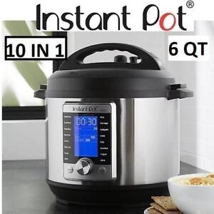 NEW INSTANT POT PRESSURE COOKER ULTRA 60 183733187 ULTRA 60 STAINLESS STEEL 6 QUART ELECTRIC KITCHEN 10 IN 1