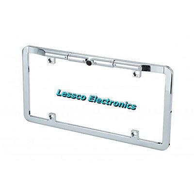 EchoMaster Full Frame License Plate Mount Camera Mirror Image (CAM-LFDPLC)