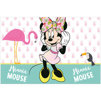 MINNIE MOUSE Tropical PLASTIC TABLE COVER ~ Birthday Party Supplies Cloth Decor](Minnie Mouse Table Cover)