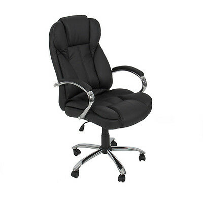 PU Leather High Back Executive Office Task Chair w/ Metal Base for Computer Desk on Rummage
