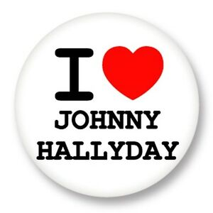 porte cl keychain 45mm i love you j 39 aime chanteur johnny hallyday ebay. Black Bedroom Furniture Sets. Home Design Ideas