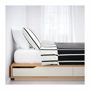 IKEA Mandal Double Bed and Mattress