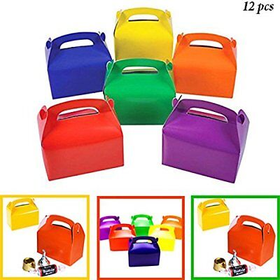 Rainbow Treat Boxes Birthday Party Favors Assorted Paper Box Supplies BULK](Favor Boxes Bulk)