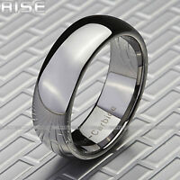 New In Box Rise Men's 8mm Tungsten Ring Sz 9-13