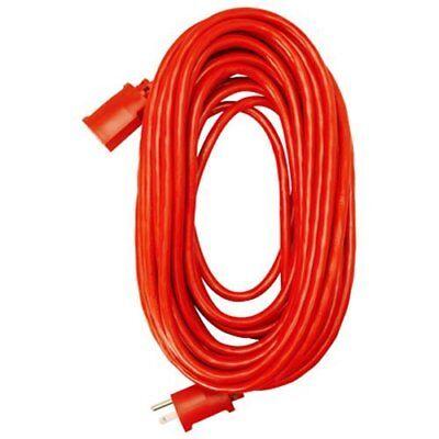 Master Electrician 02407ME 14/3 SJTW Vinyl Outdoor Extension Cord, Red, 25-Foot