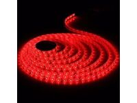 RED LED LIGHTS DIY INTERIOR DECORATION 5M LIGHT STRIPS 300 BULBS FLEXIBLE FOR HOME DECORATION