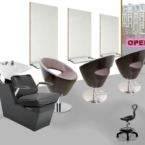 Retro Salon Furniture Package Salon Chairs Short Salon Mirrors – Retro Salon Chairs