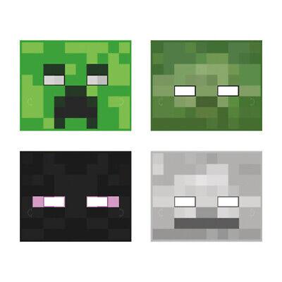 MINECRAFT PAPER MASKS (8) ~ Birthday Party Supplies Favors Creeper Video - Creeper Party Supplies