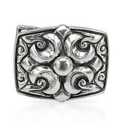 Mens Sterling Silver Belt Buckle
