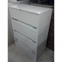 """Beige 4 Drawer Lateral Locking File Cabinet 36"""" x 18"""" x 53"""""""